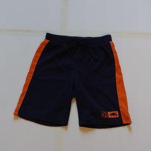 Roots Kids Blue Shorts with Orange Stripe